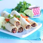 Crunchy Vegetarian Taquitos Recipe