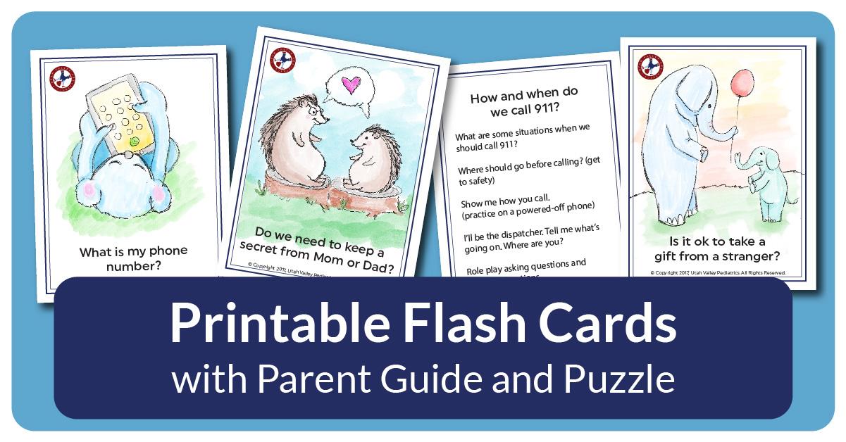 10 Safety Rules for Kindergarteners | Utah Valley Pediatrics