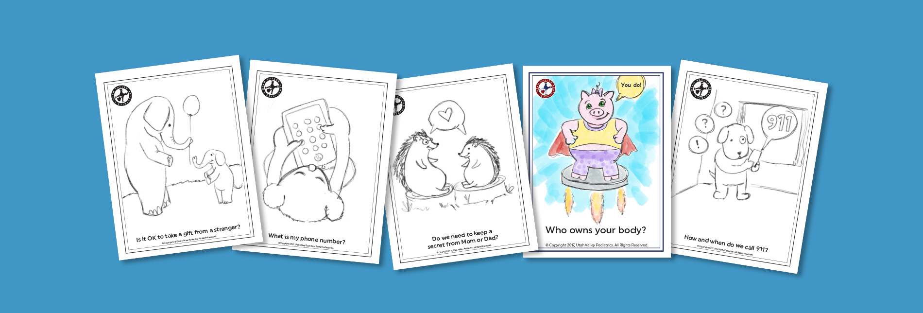 10 Safety Coloring Sheets for Kindergarteners