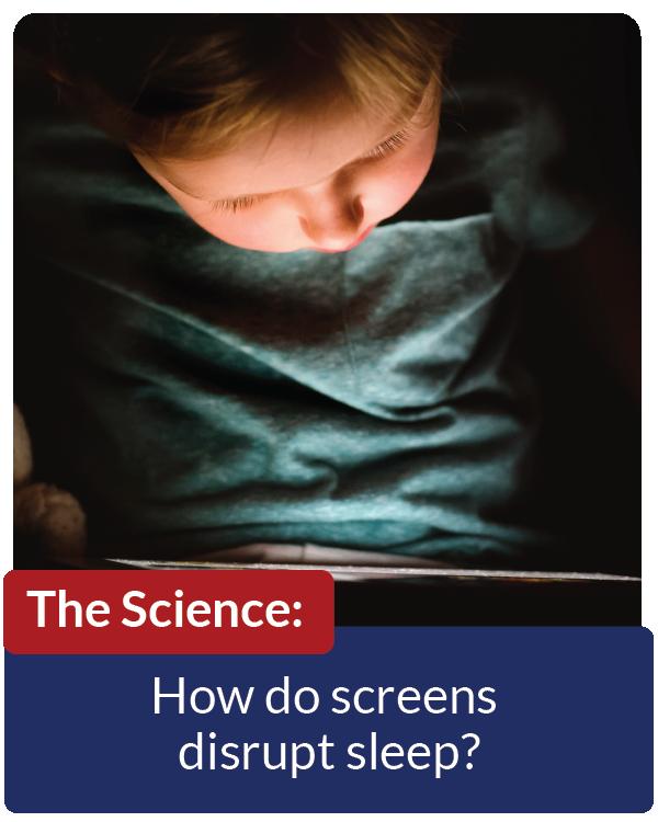 How do screens disrupt sleep?